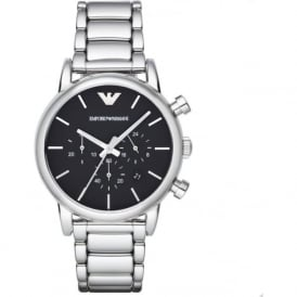 Armani Watches AR1853 Black & Silver Chronograph Mens Watch
