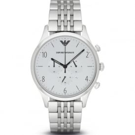 Armani Watches AR1879 Silver Stainless Steel Chronograph Mens Watch