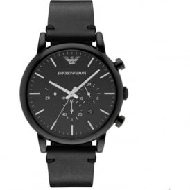 Armani Watches AR1918 Black Leather Chronograph Mens Watch