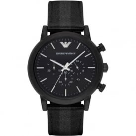 Armani Watches AR1948 Grey & Black Nylon Mens Watch