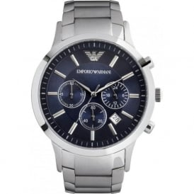 Armani Watches AR2448 Gents Silver Stainless Steel Watch