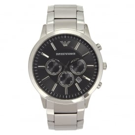 AR2460 Armani Stainless Steel Silver&Black Men's Watch