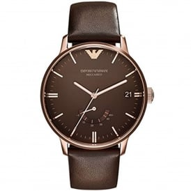 AR4657 Meccanico Rose Gold & Brown Leather Automatic Men's Watch