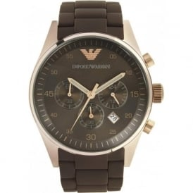Armani Watches AR5890 Mens Sports Brown Rose Gold Watch