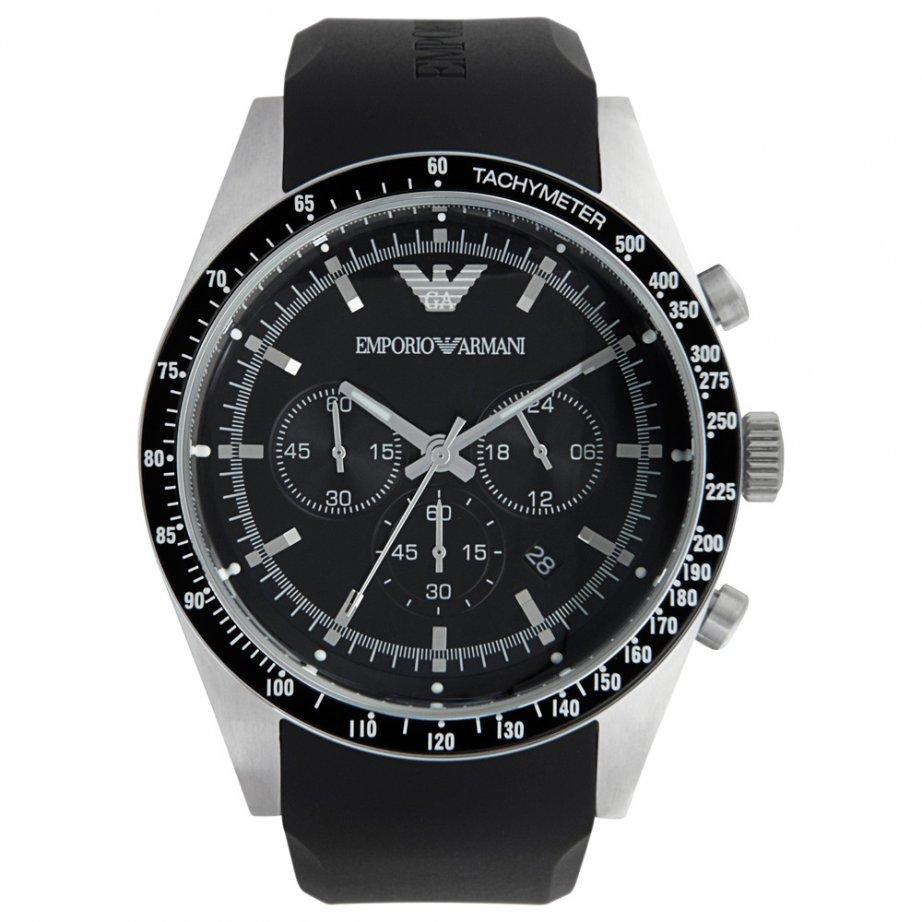 emporio armani ar5985 mens black chronograph
