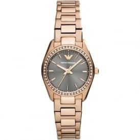 Armani Watches AR6030 Grey & Rose Gold Ladies Watch