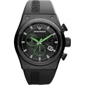 Armani Watches AR6106 Black Rubber Chronograph Mens Watch