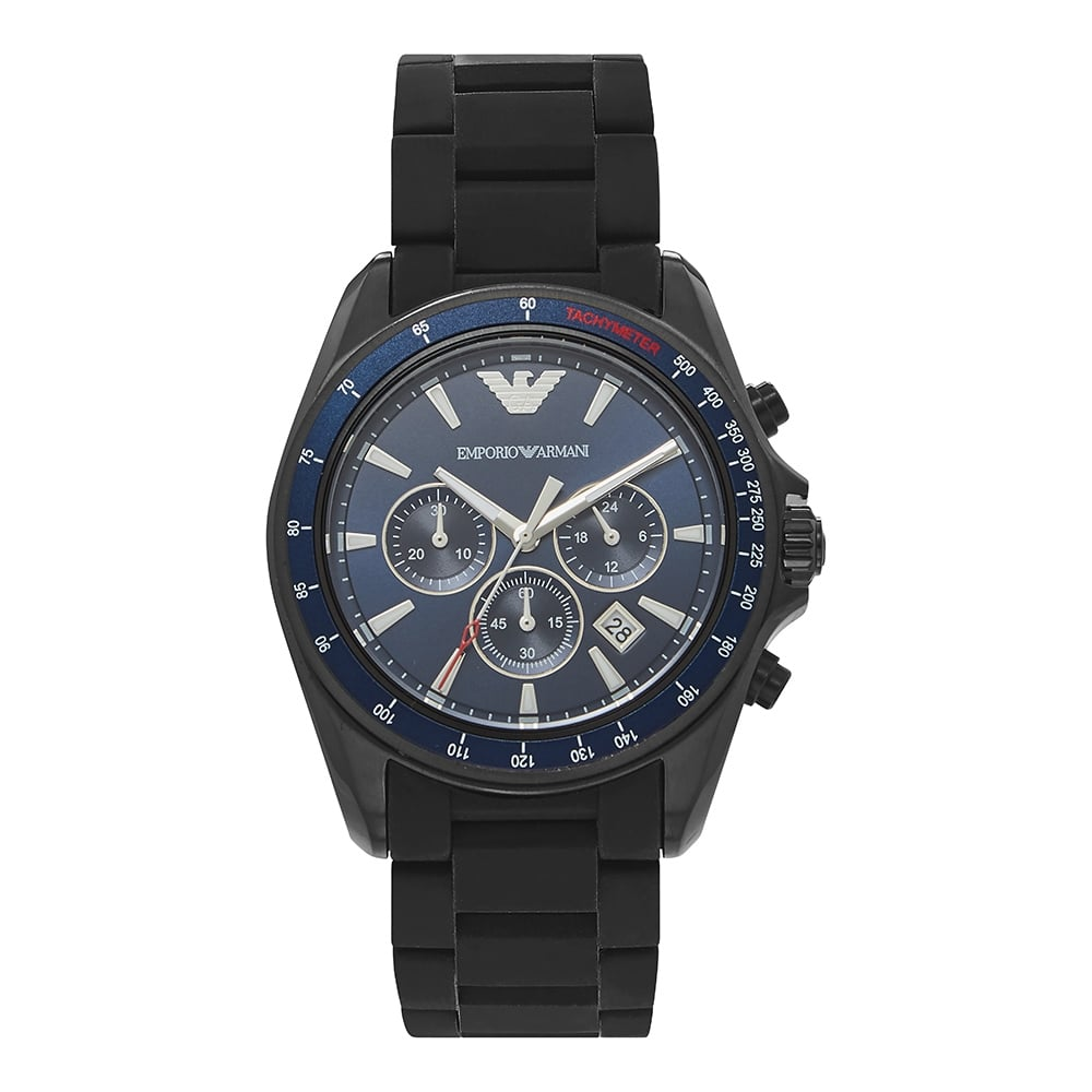 32f650008d AR6121 Black & Blue Dial Men's Chronograph Watch