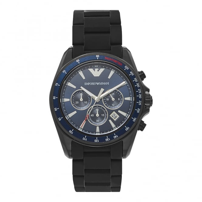 Armani Watches AR6121 Black & Blue Dial Men's Chronograph Watch