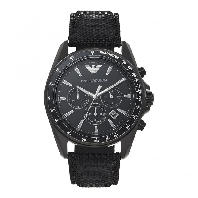 Armani Watches AR6131 Black Chronograph Men's Watch