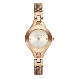 Armani Watches AR7362 Rose Gold Mesh Ladies Watch