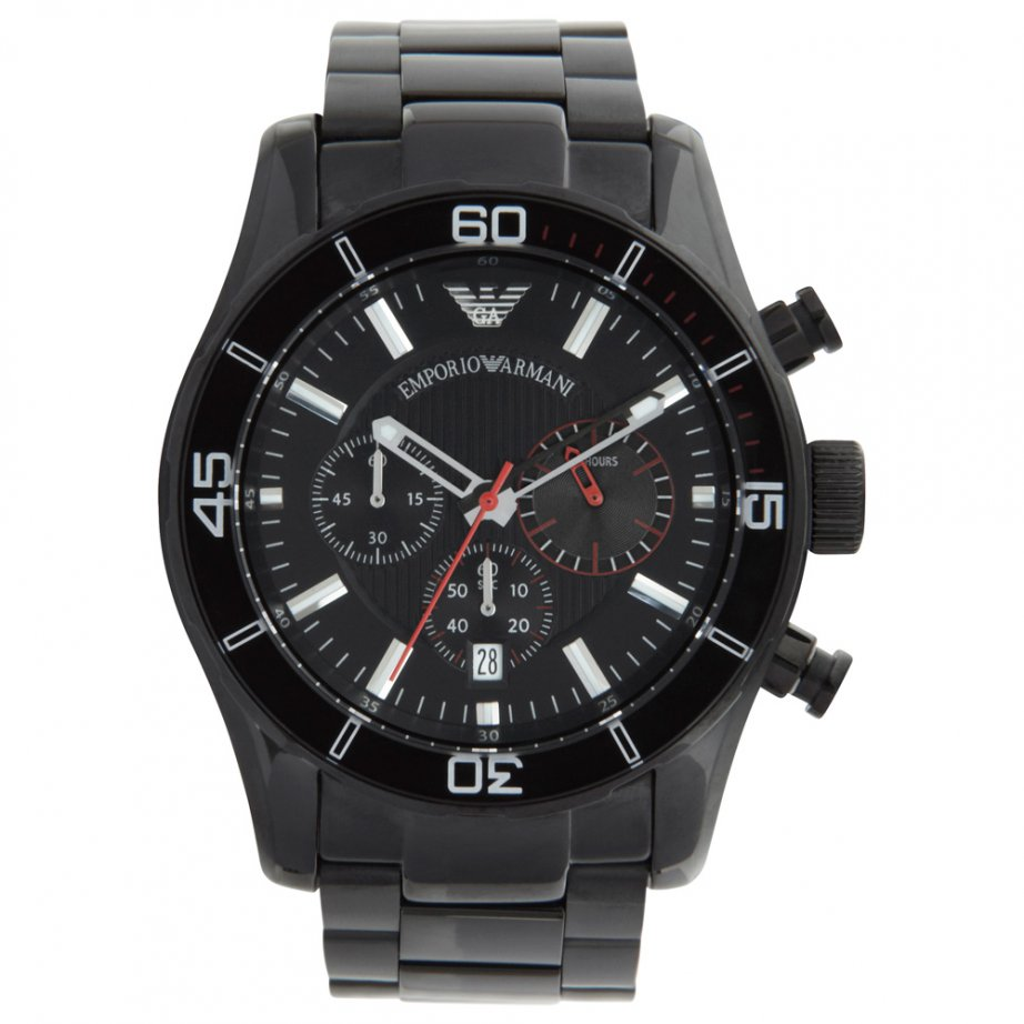 Home › Armani Watches › Armani Watches Emporio Armani Mens Black