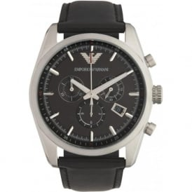 Armani Watches Black & Silver Mens Chronograph Watch AR6039