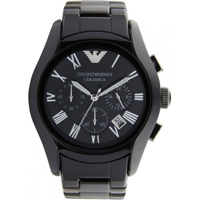 buy emporio armani ceramic black mens chronograph