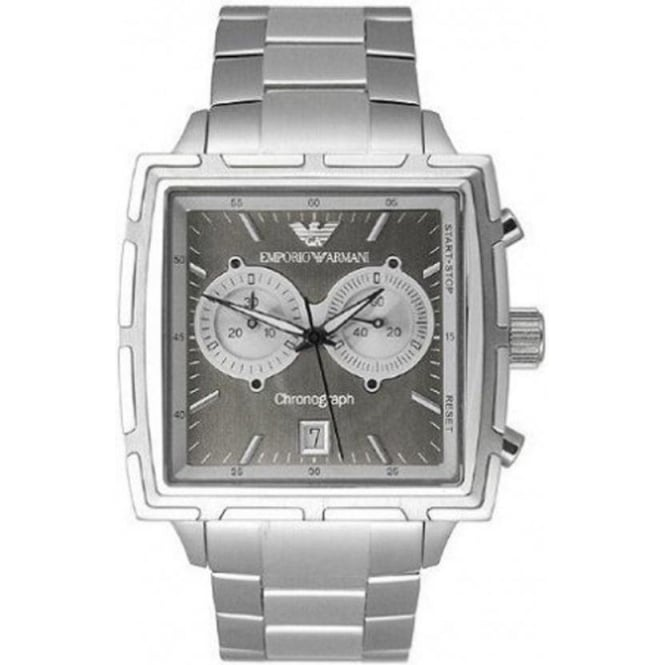 Armani Watches Classic Stainless Steel Mens Chronograph Watch AR0591