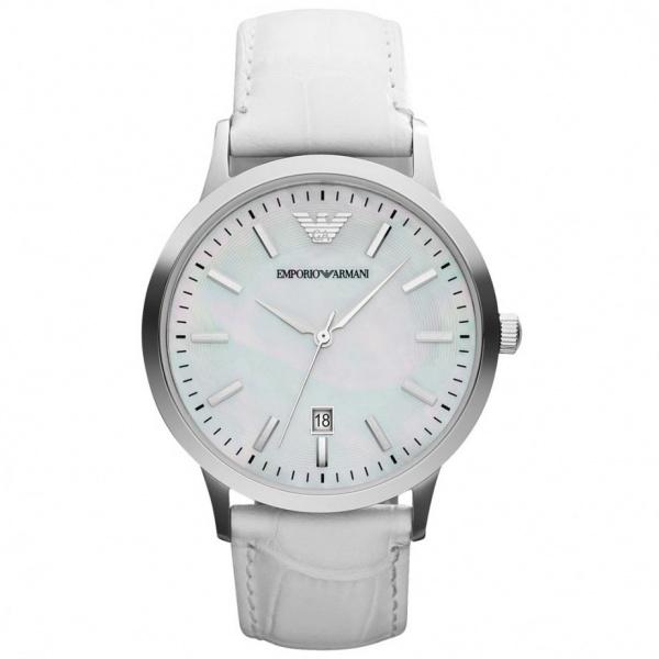 buy emporio armani leather white womens ar2465 uk