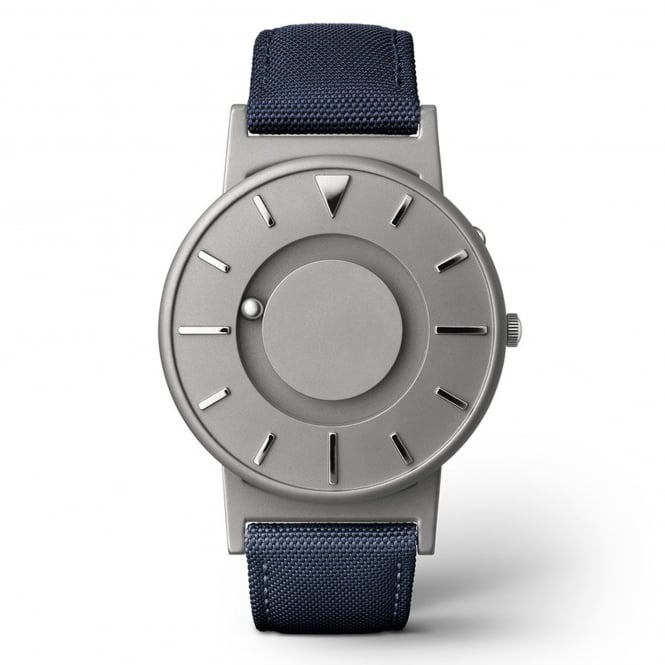 Eone Bradley Canvas Aqua & Grey Titanium Watch
