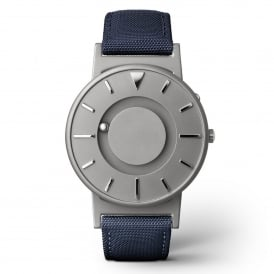 Bradley Canvas Aqua & Grey Titanium Watch