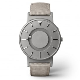 Bradley Canvas Beige & Grey Titanium Watch
