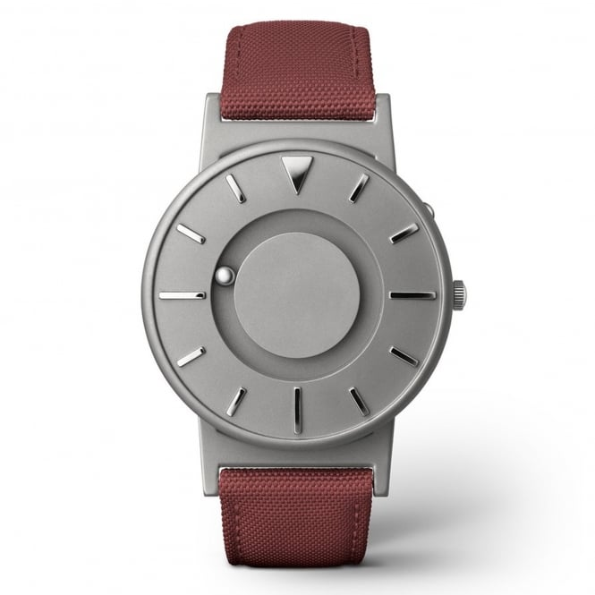 Eone Bradley Canvas Crimson & Grey Titanium Watch