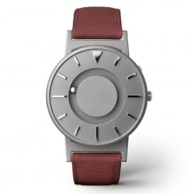 Bradley Canvas Crimson & Grey Titanium Watch