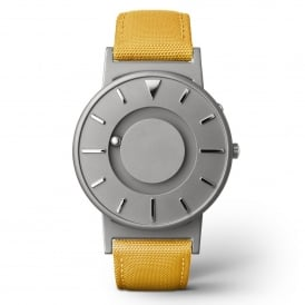 Bradley Canvas Mustard & Grey Titanium Watch