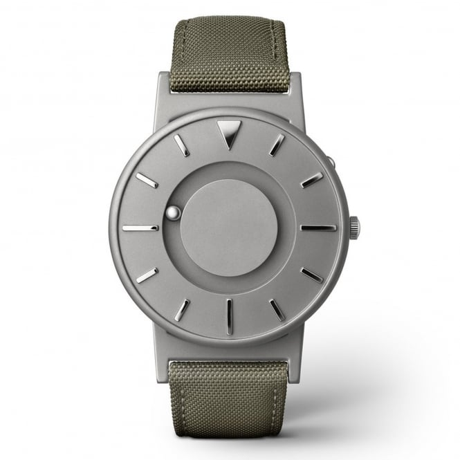 Eone Bradley Canvas Olive & Grey Titanium Watch