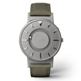 Bradley Canvas Olive & Grey Titanium Watch