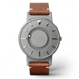 Bradley Classic Grey & Brown Leather Watch