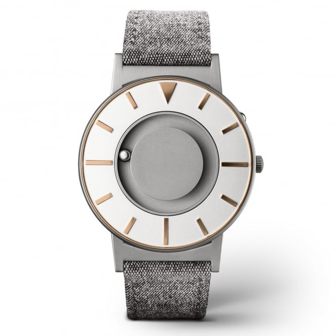 Eone Bradley Compass Gold & Grey Leather Watch