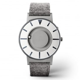 Eone Bradley Compass Graphite Grey Leather Watch