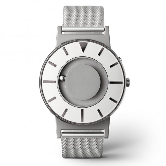 Eone Bradley Compass Iris Silver Stainless Steel Mesh Watch
