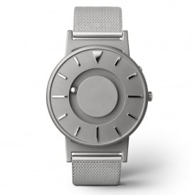 Bradley Mesh Silver Titanium & Stainless Steel Watch