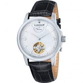Thomas Earnshaw ES-8014-02 Flinders White & Black Leather Mens Classic Automatic Watch