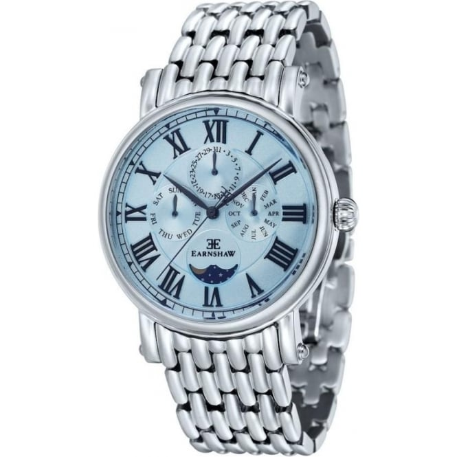 Thomas Earnshaw ES-8031-22 Maskelyne Blue & Stainless Steel Mens Multi-Function Watch