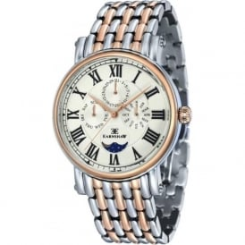 ES-8031-55 Maskelyne Two Toned Steel Mens Multi-Function Watch