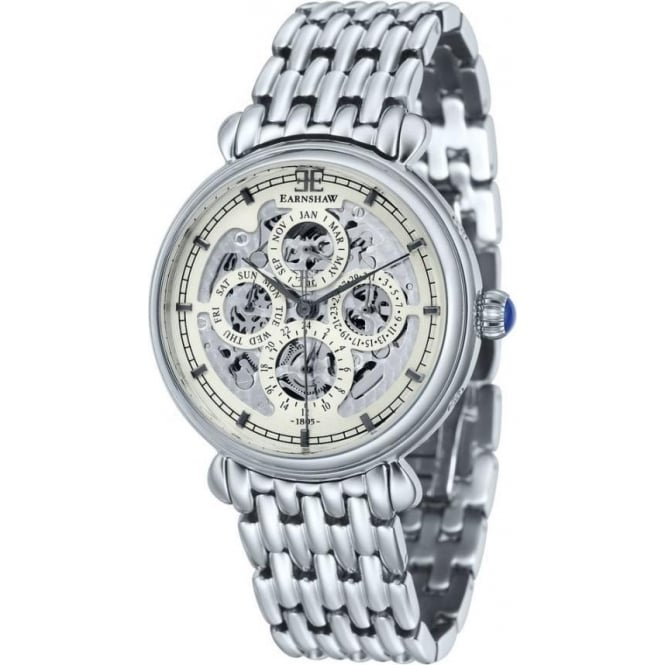 Thomas Earnshaw ES-8043-11 Grand Calendar Multi-Fuctional Stainless Steel Automatic Watch