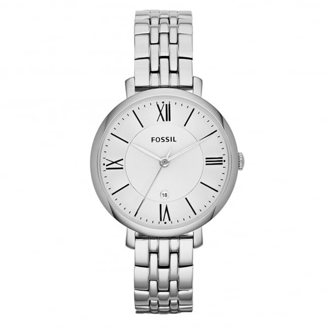Fossil ES3433 Jacqueline Silver Stainless Steel Ladies Watch