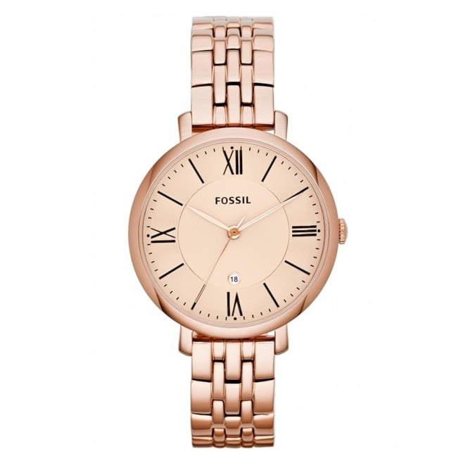 Fossil ES3435 Jacqueline Rose Gold Stainless Steel Ladies Watch