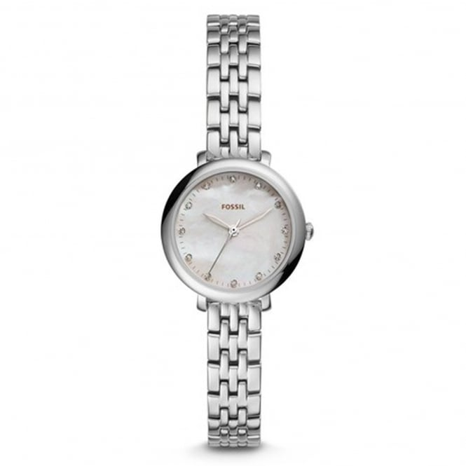 Fossil ES4029 Jacqueline Mini Mother of Pearl & Silver Stainless Steel Ladies Watch