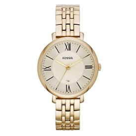 Fossil ES3434 Jacqueline Gold Tone Stainless Steel Ladies Watch