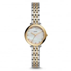 Fossil ES4030 Jacqueline Mini Mother of Pearl & Two Tone Stainless Steel Ladies Watch