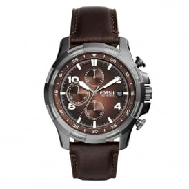 Fossil FS5113 Dean Dark Brown Leather Chronograph Mens Watch