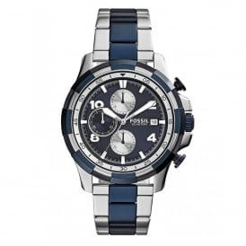 Fossil FS5149 Dean Two-Tone Stainless Steel Chronograph Mens Watch