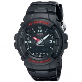 G-Shock G-100-1BVMES Black Alarm Chronograph Men's Watch
