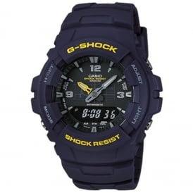 G-Shock G-100-2BVMES Blue Alarm Chronograph Men's Watch
