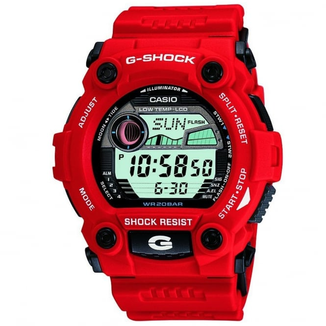 G-Shock G-7900A-4ER Red G-Rescue Alarm Chronograph Watch