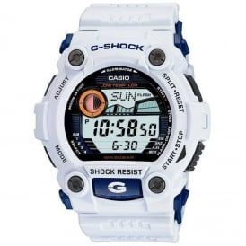 G-7900A-7ER White G-Rescue Alarm Chronograph Watch