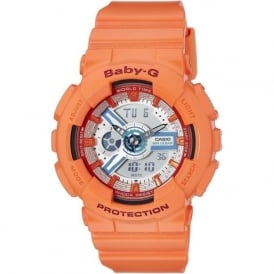 G-Shock BA-110SN-4AER Baby G Orange Analogue & Digital Rubber Watch
