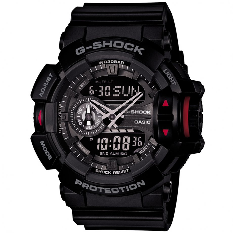 ga 400 1ber casio g shock black digital and chronograph